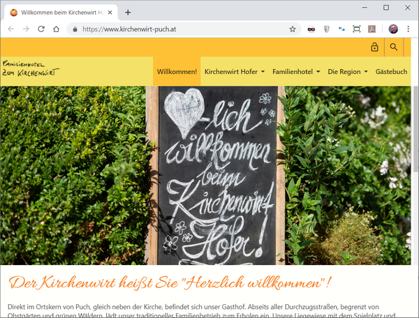 kirchenwirt-puch.at - Website Screenshot